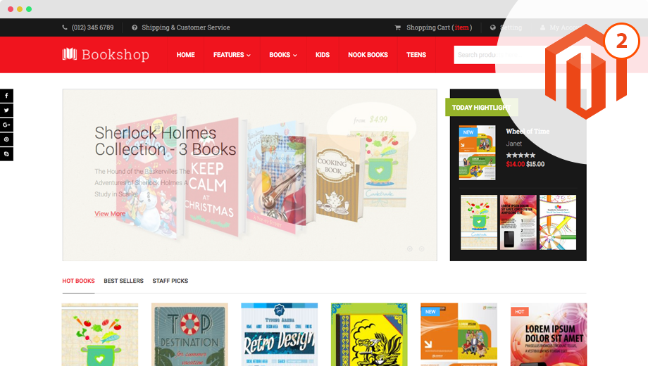 ub bookshop magento theme