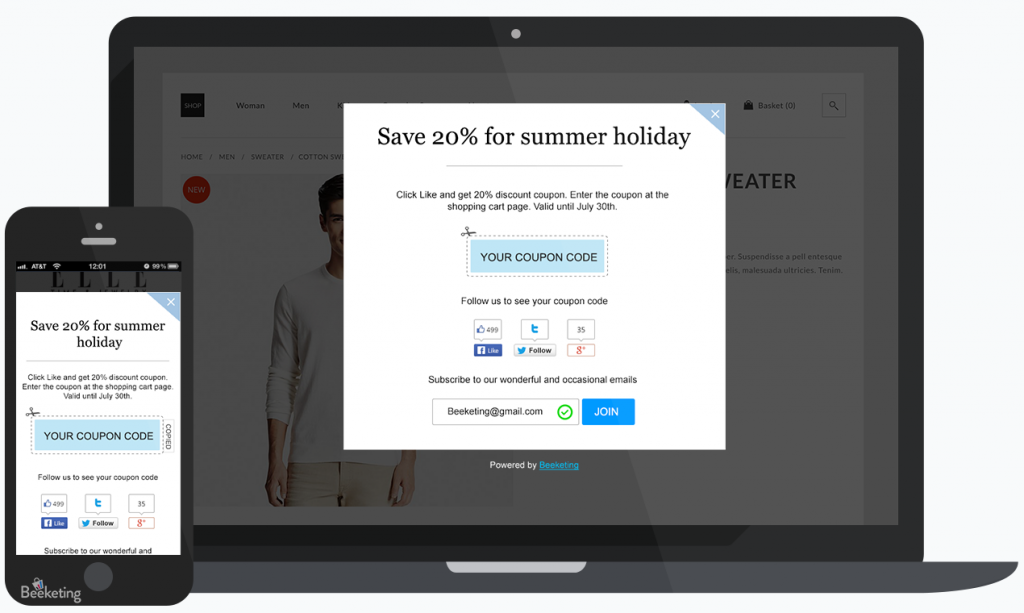 Better Coupon Box - Free Email Popups