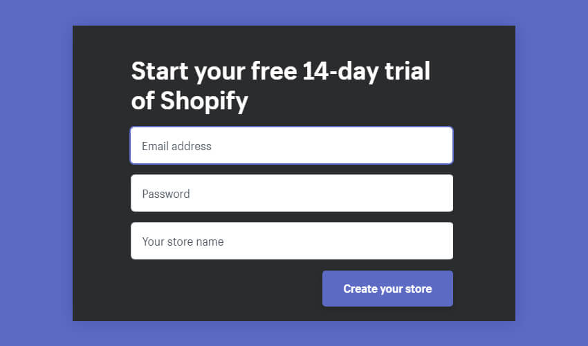 Start Building a Shopify online store