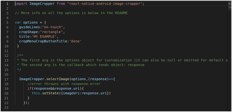React Native Image Cropper Library For Android Only | Metizsoft