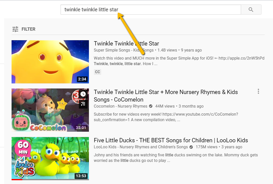 search videos on youtube