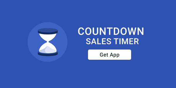 Countdown sales timer